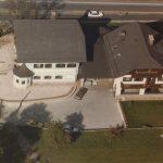 Alte Luftbildaufnahme des Anwesen