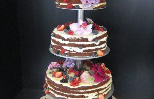 4-stöckige Hochzeitstorte - Naked Cake Star Wars