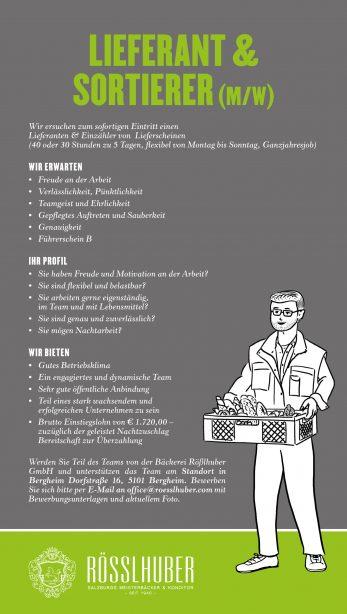 Stellenausschreibung Lieferant Sortierer_Ro_sslhuber