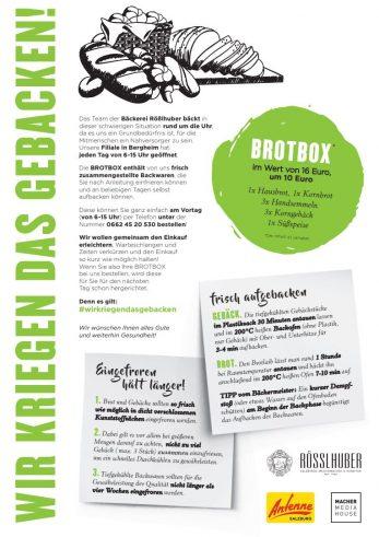 Brotbox-Aktion Corona-Krise